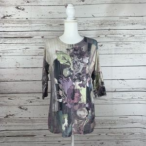 Chico's floral blouse